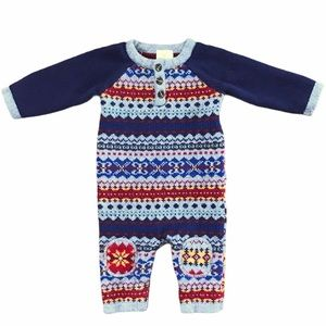 Hanna Andersson baby knit sweater bodysuit